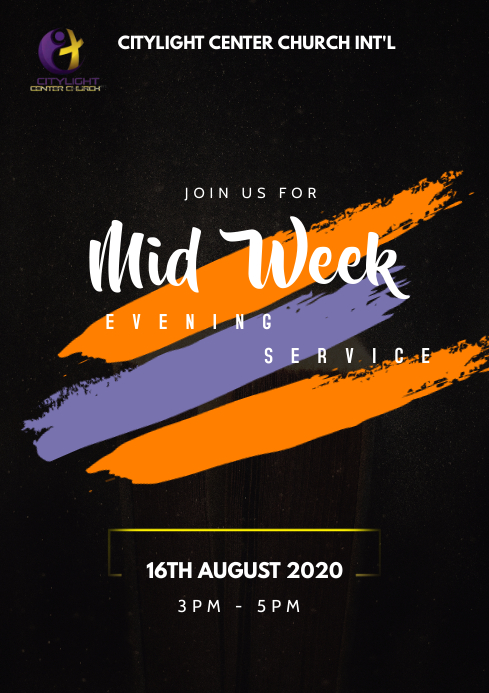 mid week service A3 template