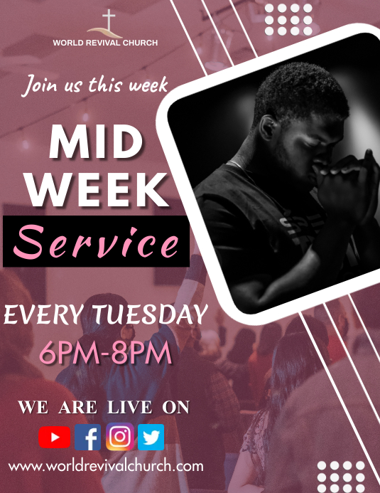 Mid week service Flyer (Letter pang-US) template