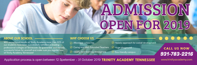 Middle School Admission Banner Design