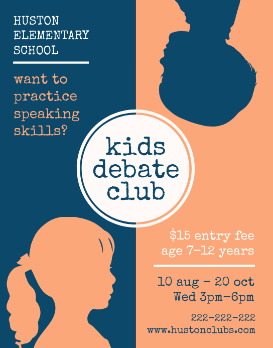 Middle School Debate Club Flyer Design