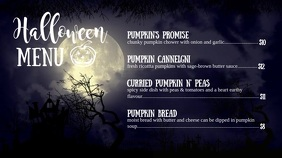 Midnight Halloween Special Digital Display Video Menu template