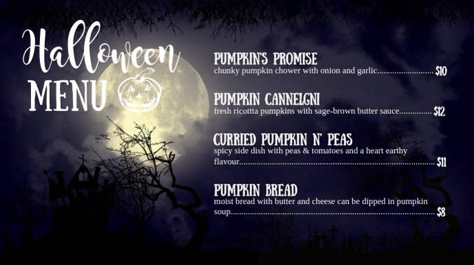 Midnight Halloween Special Digital Display Video Menu