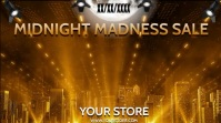 MIDNIGHT MADNESS SALE GOLD VERSION Digital Display (16:9) template