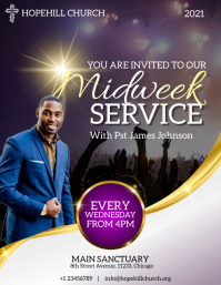 midweek church service flyer template
