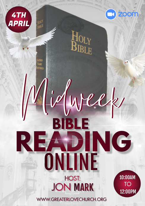 Midweek service A3 template
