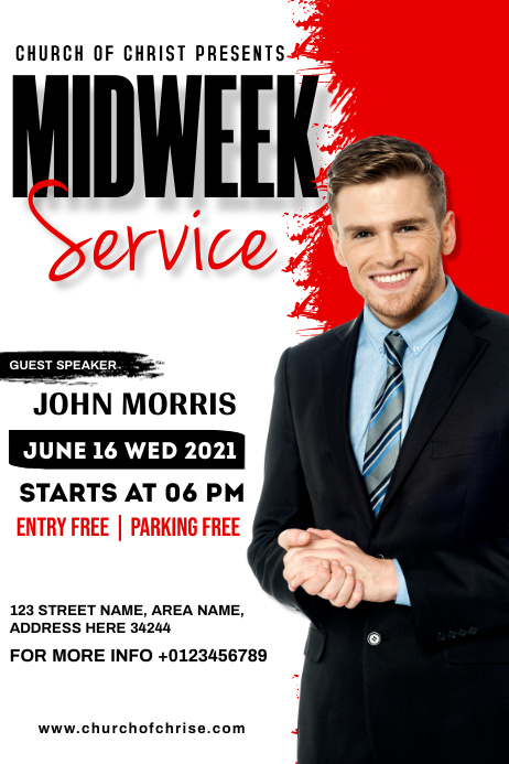 Midweek service โปสเตอร์ template