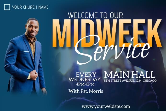 midweek service flyer โปสเตอร์ template