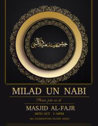 Milad un Nabi, eid milad un nabi Flyer (US Letter) template