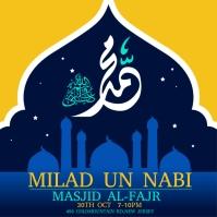 Milad un Nabi, eid milad un nabi Instagram Post template