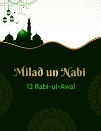Milad un Nabi,rabi ul awal Volantino (US Letter) template