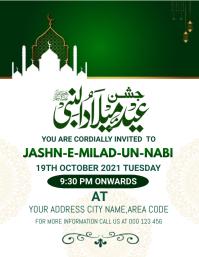 Milad un Nabi,rabi ul awal Pamflet (Letter AS) template