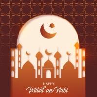 Milad un nabi greeting card birth of prophet Instagram Plasing template