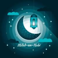 Milad un nabi greeting concept Instagram 帖子 template