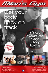 Milan's Gym Poster template