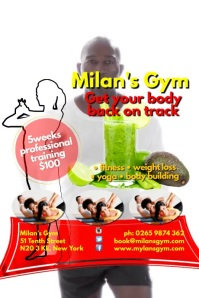 Milans Gym Poster template