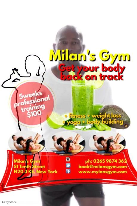 Milans Gym Poster