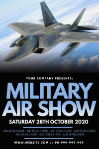 Military Air Show Poster โปสเตอร์ template