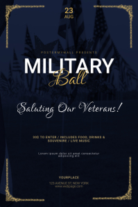 Military ball Flyer Template 海报