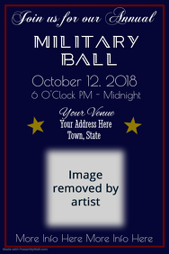 Military Ball Poster Template