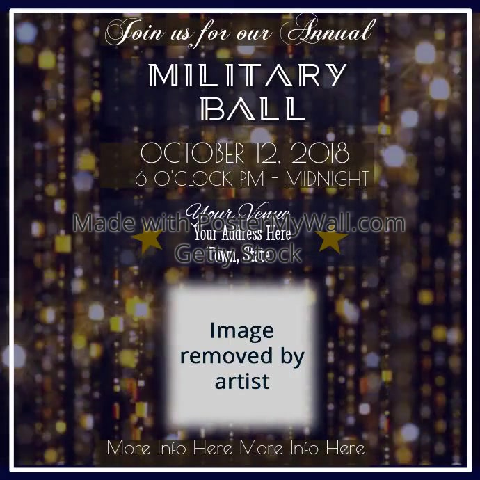 military ball video template