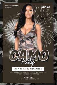 Military Camouflage Party Flyer Template