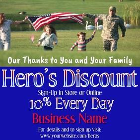Military Hero's Discount Video Instagram