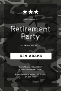 Military Retirement Party Flyer Template