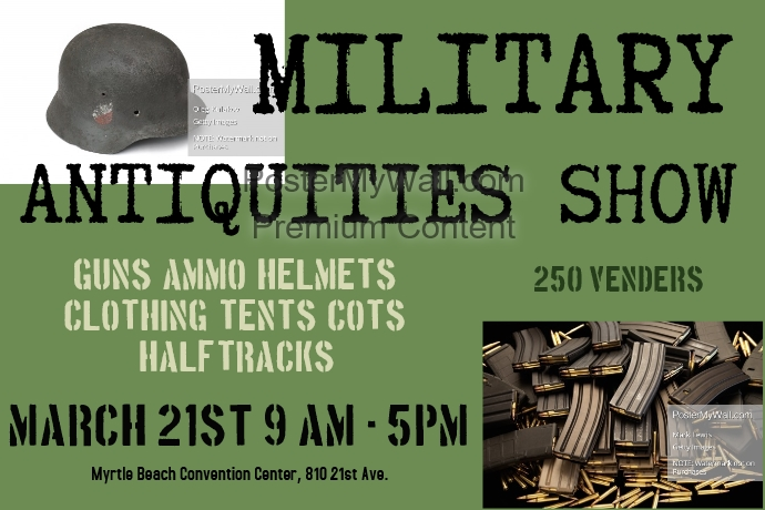 military show template postermywall