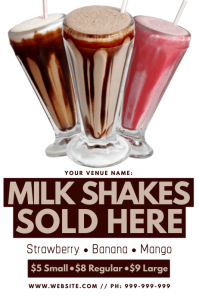 Milk Shake Poster Iphosta template