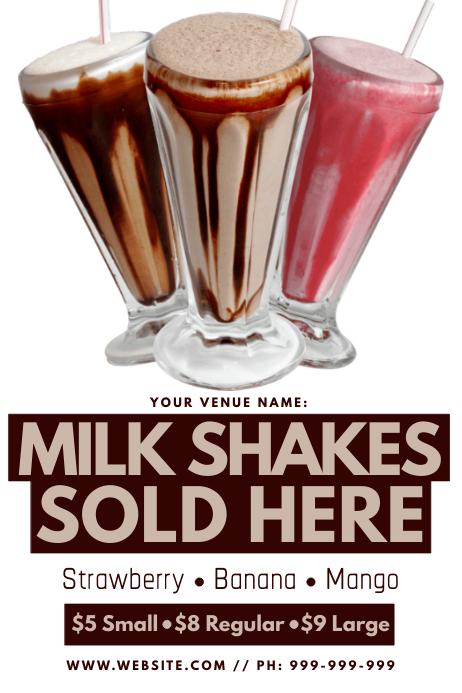 Milk Shake Poster template