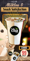 Milk Tea & Shawarma Cartel enrollable de 3 × 6 pulg. template