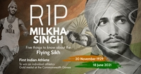 Milkha Singh R.I.P Template Immagine condivisa di Facebook
