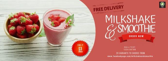 Milkshake & Smoothie Facebook-coverfoto template