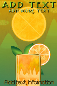 milkshake cirtus orange mountains, full moon customizable po
