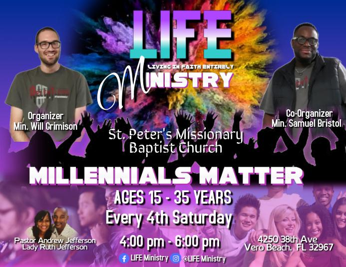 Millennials Matter Pamflet (Letter AS) template