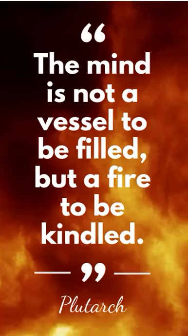 Mind and Fire Plutarch Quote Digitale display (9:16) template