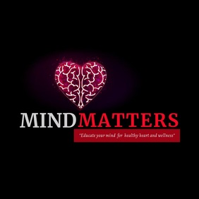 Mind Matters Digital Audio Design Logo template