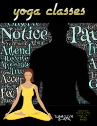 mindful yoga custom flyer template