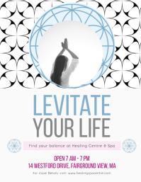 Mindfulness and Meditation Course Flyer Folder (US Letter) template
