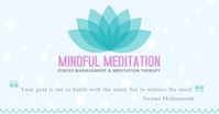 Mindfulness Meditation Session Banner Gambar Bersama Facebook template