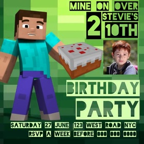 MINECRAFT BIRTHDAY Template