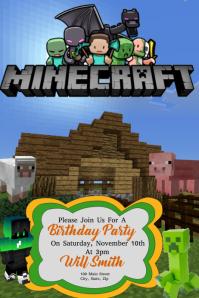 Minecraft Плакат template