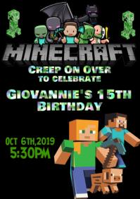 Minecraft A4 template