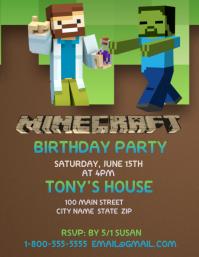 Minecraft Volante (Carta US) template