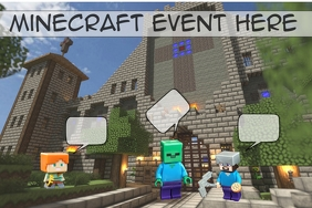minecraft event/birthday/events/video games Póster template