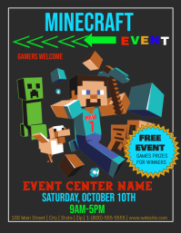 Minecraft Event Pamflet (Letter AS) template