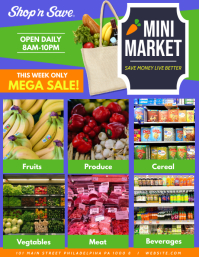 Mini Market Flyer (US Letter) template