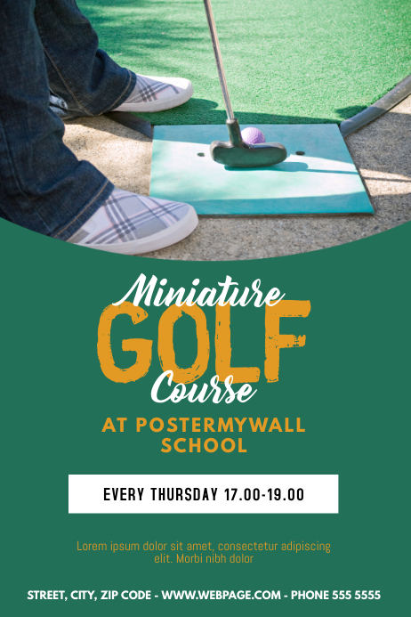 miniature golf course flyer template