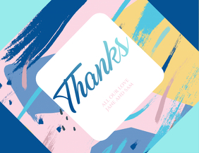 Minimal and Abstract Thank You Card