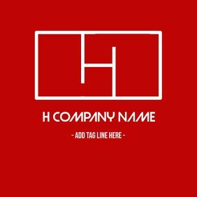 Minimal and modern alphanumeric logo with an